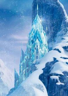 Beautiful ice castle made by Elsa in the new movie Frozen