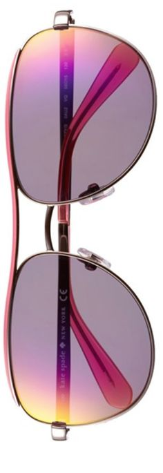 Kate Spade New York - 'dusty' 56mm metal aviator sunglasses