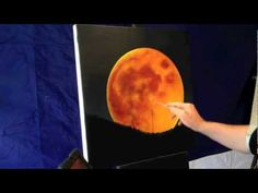 Painting a red full moon with acrylics     www.youtube.com/nagualero www.facebook.com/nagualero