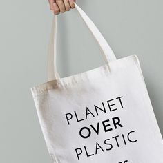 Personalised Planet Over Plastic Canvas Tote Bag