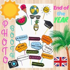 Photocall fin de curso- End of the year photo booth- ESPAÑOL-INGLÉS End Of Year, Arts And Crafts, Classroom, Deco, Last Day Of School, Funny Pics, Deko, Dekorasyon, Art And Craft