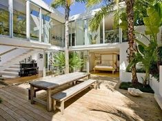 Image result for interior courtyard beach house