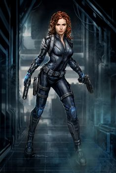 The Avengers- Black Widow 03 by andyparkart.deviantart.com on @deviantART