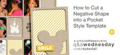 How to Cut a Negative Shape into a Pocket Style Template