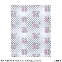 Blue Polka Dot & Koala Bears Duvet Cover