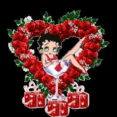 Betty boop Gifs images and Graphics. Betty boop Pictures and Photos. Happy Birthday To You, Happy Valentines Day, Gifs, Boop Gif, Glitter Gif, Betty Boop Cartoon, Betty Boop Pictures, Glitter Graphics, Christmas Pictures