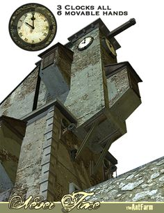Ancient clock tower - $12.95