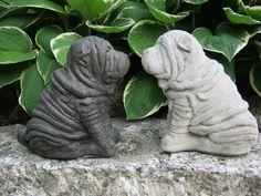 Shar-Pei Dog Statue, Concrete. $21.95, via Etsy.