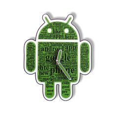 Android  Wall Clock Robo by walldecoration on Etsy