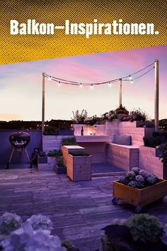 Egal ob Garten, Balkon oder Terrasse. Platz für Kräuter, Beeren und Blumen ist immer. #Kräuter #Kräutergarten #Urbangardening #DIY #pflanzen #Garten #Inspiration #Gartenideen #Balkonideen #Terrasse #Rooftop #Dach Home And Garden, Urban Gardening, Inspiration, Patio, Narrow Rooms, Trellis, Decor Room, Balcony Ideas, Indoor Courtyard