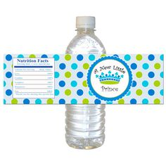 prince baby shower water bottle labels wrappers by pinkthecat 800