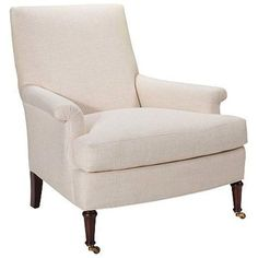 Image of Hickory Chair's Virginia Club Chair in Muslin