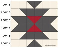 A free pattern for a Squash Blossom Quilt. A tutorial to make a simple southwest style quilt. A great quilt pattern for a beginning quilter. Free quilting patterns and tutorials Quilt Square Patterns, Barn Quilt Patterns, Quilting Patterns, Quilting Ideas, Simple Quilt Pattern, Sewing Patterns, Shirt Patterns, Patchwork Quilt Patterns, Modern Quilting