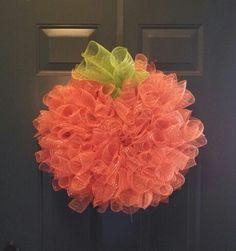 Pumpkin Deco-mesh wreath