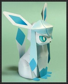 Pokemon - Glaceon Ver.4 Free Papercraft Download