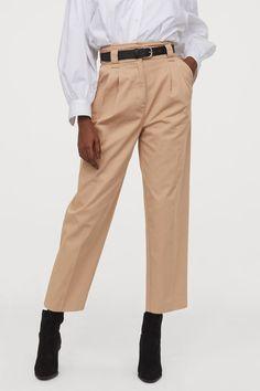 Slate Grey Premium Twill Ankle Zip Pants