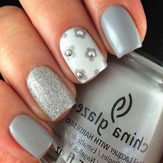 Pin de lulu en lulu grey nail designs, nails y gray nails Fancy Nails, Trendy Nails, Cute Nails, Shellac Nails, Acrylic Nails, Nail Polish, Gray Polish, Nail Nail, Acrylic Art