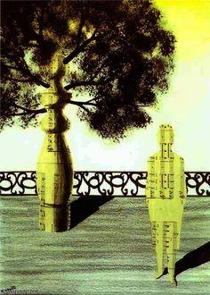 Sans titre de Rene Magritte (1898-1967, Belgium) Rene MagritteMore Pins Like This At FOSTERGINGER @ Pinterest