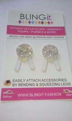 BLINGit  Rhinestone Shoe Clips NEW on Card #BLINGit #ShoeClips