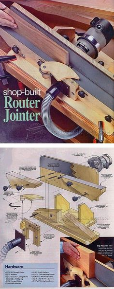 Shopmade Router Jointer - Router Tips, Jigs and Fixtures | WoodArchivist.com