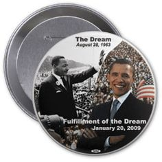 Obama / MLK 2009 Inaugural Button