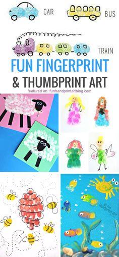 Adorable Fingerprint Crafts for Kids
