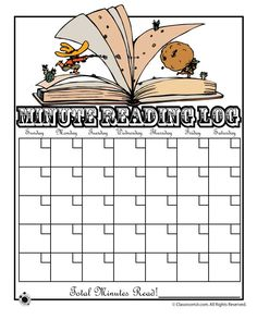 Printable Reading Logs Cowboy Minute Reading Log – Classroom Jr.