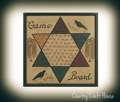 Primitive Game Board  from Country Craft House
