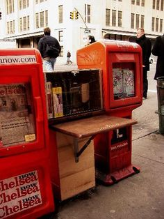 Love this idea- corner library. It is a small weather-proofed shed, about the size of the commercial news racks that line the sidewalks. The Corner Library, however, looks like a miniature version of a real library, and it is for sharing ideas and information within a local area.