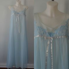 A personal favorite from my Etsy shop https://www.etsy.com/ca/listing/264411705/vintage-blue-chiffon-nightgown-vanity