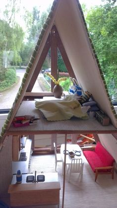 very cool homemade modern a frame dollhouse - Modern A Frame