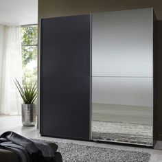 Queen Lava Robe 2 Door Sliding #Wardrobe With 1 #Mirrored Door £399.95