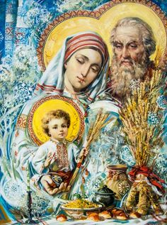 Ukrainian Holy Family by Ukrainian Theotokos by Okhapkin Alexander Religious Pictures, Religious Icons, Religious Art, Jesus And Mary Pictures, Christian Artwork, Mama Mary, Blessed Mother Mary, Ukrainian Art, Madonna And Child