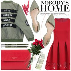 How To Wear Date Night Bomber Jacket Red Dress Outfit Idea 2017 - Fashion Trends Ready To Wear For Plus Size, Curvy Women Over 20, 30, 40, 50