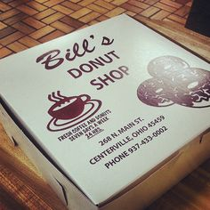 Bill's Donut Shop a Centerville local tradition since 1960... They have the most yummy blueberry cake donuts. Makes any morning a happy one!