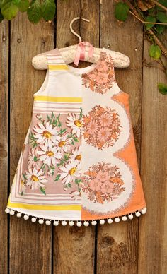 vintage table cloth dress