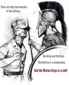 6 Ways the Marines Are Like the Spartans This article analyzes how the U. Marines are like the ancient and epic Spartan warriors. I myself am a United States Marine. Us Marine Corps, Marine Corps Humor, Marine Life, Military Quotes, Military Love, Military Humor, Marine Quotes, Usmc Quotes, Marine Memes
