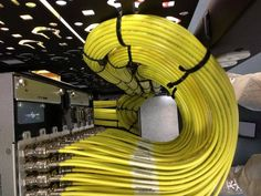 Perfect loops and bundles. AV cable management. Showing the networking guys how to get it done!