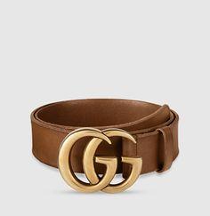 ea88b8a3a5 Gucci - cintura in pelle con fibbia doppia G Lusso Moderno, Cinture In  Pelle,
