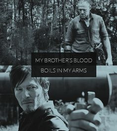 The bond of Daryl and Merle Dixon, The Walking Dead.