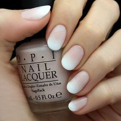 """""""the classic french nail has some serious competition with this week's White Ombre Nail Tutorial by @HannahRoxIt! a pale pink to white gradient offers a…"""""""