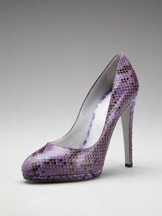 Sergio Rossi Snake Skin Pump..purple power!