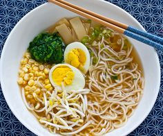 Japanese Miso Ramen Noodle Soup  by steamykitchen #Soup #Ramen #Miso #steamykitchen