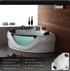 U272 #whirlpooltub #dayspa Bathroom Spa, Bathroom Interior, Washroom, Master Bathroom, Sauna Shower, Walk In Tubs, Dream Bath, Relaxation Room, Whirlpool Tub