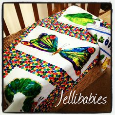 The very hungry caterpillar fabric baby cot  by Jellibabies1, £31.99