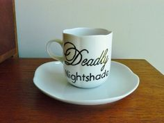 Deadly Nightshade hand painted vintage by trixiedelicious on Etsy