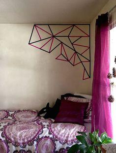 Easy washi tape wall art #washi #wallart #diy