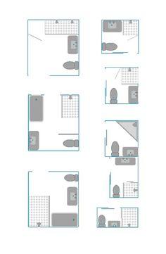 8 kleine badkamer plattegronden. Bekijk ze in 3D op kleinebadkamers.nl: http://kleinebadkamers.nl/kleine-badkamer-voorbeelden/8-kleine-badkamer-plattegronden/