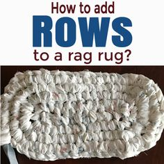 Once you have made the base for your rag rug then you are ready to start  adding the rows which will circle the base.  The rows go fast at first but  as your rug gets larger each one will take a bit longer.  For the white rug  in these photos and I've put in 5 hours so far.  When it is done I wil