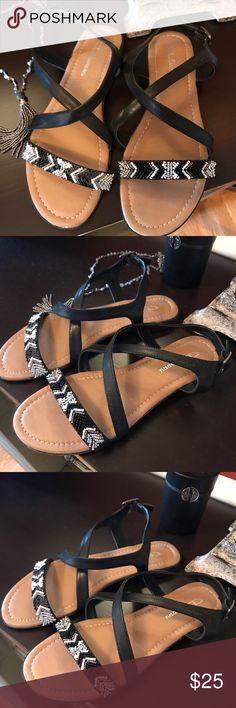 Sandals Aztec sandals. Worn 1 time. Very cute. Excellent condition CL Laundry Shoes Sandals